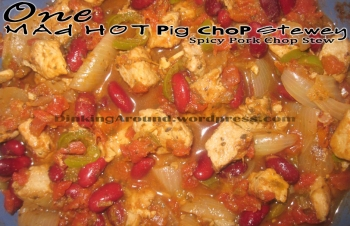 For Recipe Click Here - One Mad Hot Pig Chop Stewey (Spicy Pork Chop Stew)
