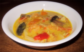 For Recipe Click Here - COOCOO NUTS Shrimp and Crab Soup (Coconut Shrimp and Crab)