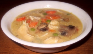 For Recipe Click Here - Pie of the Pot in the Crock (Crockpot Chicken Pot Pie Soup)