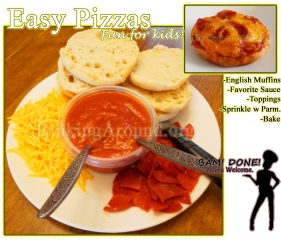 For Recipe Click Here - Top O' the Muffin Pizzas (Easy Pizzas)