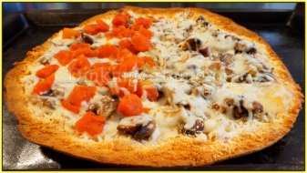 For Recipe Click Here - tTt's Fungi Pie (Mushroom and Parm. Pizza Pie)