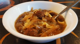 For Recipe Click Here - Tear Jerker Soup (Delicious Onion and Sausage Soup)
