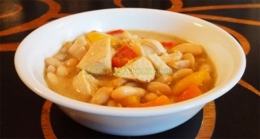 For Recipe Click Here - The Scared White Chicken (White Chicken Chili)
