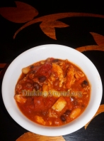 For Recipe Click Here - Jack O Lantern Chili (Sausage and Chicken Pumpkin Chili)