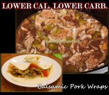 For Recipe Click Here - Balsamic Pork Wraps
