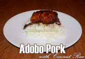 Adobo Pork w Coconut Rice