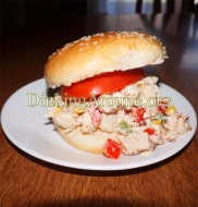 For Recipe Click Here - Squawkin Oinkers- Fiesta-wiches (Chicken Bacon Salad Sandwiches)