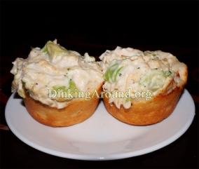 For Recipe Click Here - Alfredo Chicken N Broccoli Cups