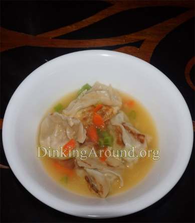 For Recipe Click Here - Stuffed Alfredo Wontons in a Wonderful Broth