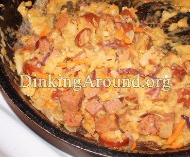 For Recipe Click Here - Healthified Cheesy Basas (Cheesy Kielbasa N Cabbage)