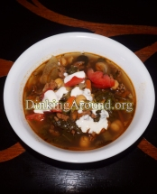 For Recipe Click Here - Spanish Popeye Soup (Chorizo Spinach Soup)