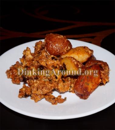 For Recipe Click Here - Chorizo Tater Salad Dish