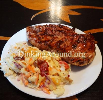 For Recipe Click Here - BalsBerry Chicks N Poppy Seed Slawad (Balsamic Raspberry Chicken w/ Poppy Seed Coleslaw Salad)