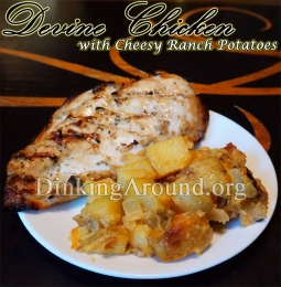 For Recipe Click Here - Devine Chicken N the Cheesin Ranch Taters (Deliciously Marinaded Chicken N Cheesy Ranch Potatoes)