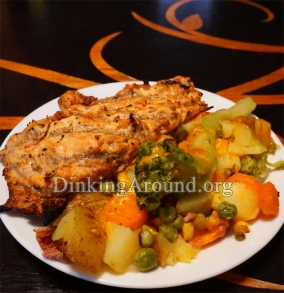 For Recipe Click Here - Mmmm Mmmm Chicken N Vegis (Marinaded Chicken w/ Cheesy Potatoes N Vegis)