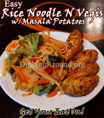 For Recipe Click Here - Rice Noodles and Vegis served with side of Masala Potatoes