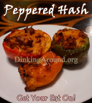 For Recipe Click Here - Peppered Hash (Southwestern Chorizo N Hash Stuffed Peppers)