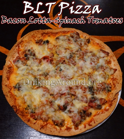 For Recipe Click Here - BLT Pizza (Bacon Lotta-Spinach Tomato Pizza)