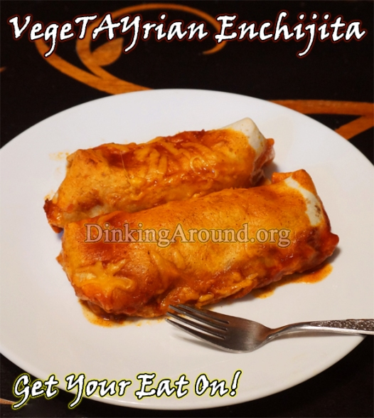 For Recipe Click Here - VegeTAYrian Enchijitas (Vegetable Enchiladas)