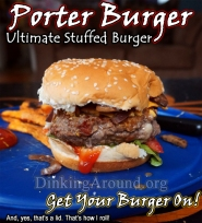 Porter Burger with Creole Sweet Potato Fries